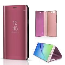 Spiegel Hardcase Window Venster Hoesje Huawei P10 Plus - Rosé Goud