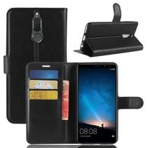 Litchee Booktype Hoesje Huawei Mate 10 Lite - Zwart