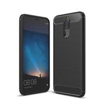 Carbon TPU Hoesje Huawei Mate 10 lite - Zwart