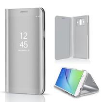 Spiegel Venster Bookcase Hoesje Huawei Mate 10 - Zilver