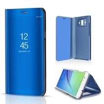 Spiegel Venster Bookcase Hoesje Huawei Mate 10 - Blauw