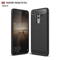 Carbon Brushed TPU Hoesje Huawei Mate 10 Pro - Zwart