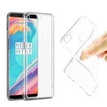 Transparant Hoesje TPU Hoesje OnePlus 5T + Screenprotector