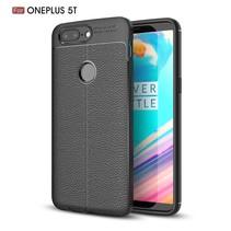 Litchee TPU Hoesje OnePlus 5T - Zwart