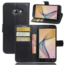 Litchee Booktype Hoesje Samsung Galaxy A5 (2017) - Zwart