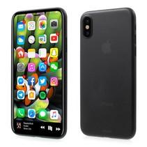 Ultradun Matte Hardcase Hoesje iPhone X - Zwart