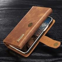 Tri-fold Lederen Wallet Hoesje iPhone X - Bruin