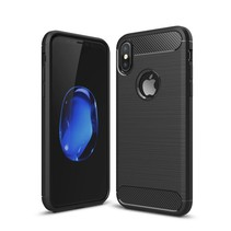 Brushed TPU Hoesje iPhone X - Zwart