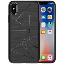 Qi Draadloos Opladen TPU iPhone X - Zwart