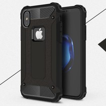 Armor Guard + TPU Hybride Hoesje iPhone X - Zwart