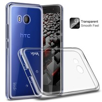 IMAK TPU Hoesje + Screenprotector HTC U11 - Transparant