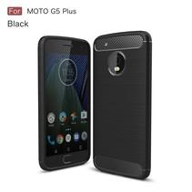 Brushed TPU Hoesje Motorola Moto G5 Plus - Zwart