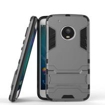 Hybrid Hoesje met Kickstand Motorola Moto G5 Plus - Grijs