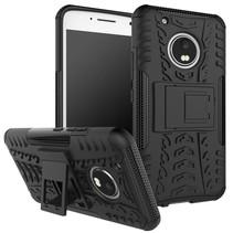 Kickstand Hybrid Hoesje Motorola Moto G5 Plus - Zwart