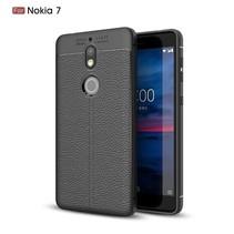 Litchee TPU Backcover Hoesje Nokia 7 - Zwart