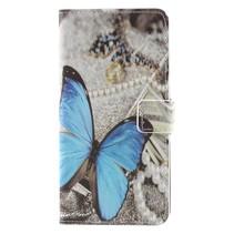 Booktype Hoesje Nokia 8 - Blauwe Vlinder