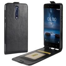 Flipcase Hoesje met Pasjeshouder Nokia 8 - Zwart