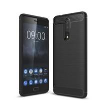 Brushed TPU Hoesje Nokia 8 - Zwart