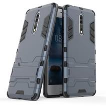 Armor TPU Hoesje met Kickstand Nokia 8 - Blauw