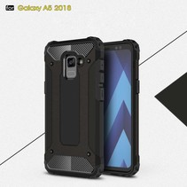 Armor Hybrid Hoesje Samsung Galaxy A8 (2018) - Zwart