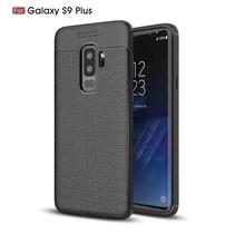 Litchee TPU Hoesje Samsung Galaxy S9 Plus - Zwart