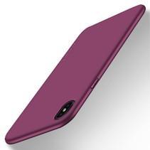 X-level Hardcase Hoesje iPhone Xr - Wijnrood