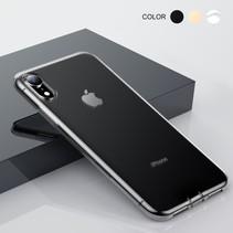 Baseus Zwart TPU Hoesje iPhone Xr - Transparant