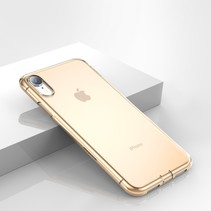 Baseus Goud TPU Hoesje iPhone Xr - Transparant