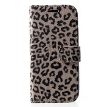 Luipaard print Booktype Hoesje iPhone Xr - Beige
