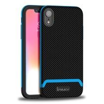 Ipaky Hybrid Hoesje iPhone Xr - Zwart / Blauw