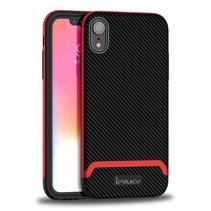 Ipaky Hybrid Hoesje iPhone Xr - Zwart / Rood