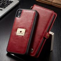 Caseme Booktype Hoesje iPhone Xr - Rood