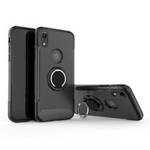 Angibabe Hybrid Hoesje iPhone Xr - Zwart