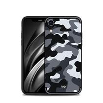 Nxe Camouflage Hybrid Hoesje iPhone Xr - Grijs