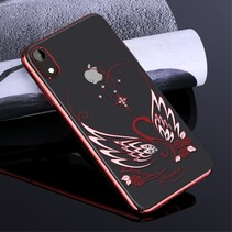 Kingxbar Zwaan Hardcase Hoesje iPhone Xr - Rood
