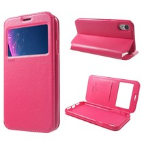 Roar Korea Booktype Hoesje iPhone Xr - Roze