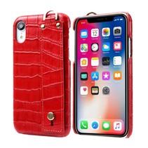 Krokodillen Hardcase Hoesje iPhone Xr - Rood