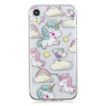Eenhoorn en Regenboog TPU Hoesje iPhone Xr