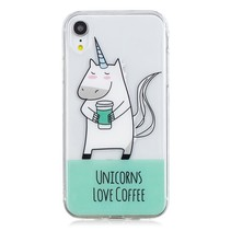 Unicorns Love Coffee TPU Hoesje iPhone Xr