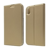 Booktype Hoesje iPhone Xr - Goud