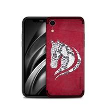 Nxe Paarden Motief TPU Hoesje iPhone Xr - Rood