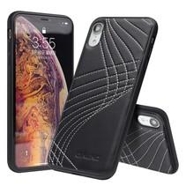 Qialino Stikwerk Hybrid Hoesje iPhone Xr - Wit