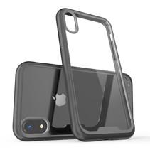 Krasbestendig Hybrid Hoesje iPhone Xr - Zwart