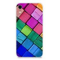 Gekleurde Blokken TPU Hoesje iPhone Xr