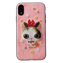 Mutural Lieflijke Kat Hybrid Hoesje iPhone Xr
