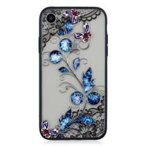 Vlinder en Bloem Hybrid Hoesje iPhone Xr