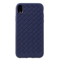 Gevlochten TPU Hoesje iPhone Xr - Blauw