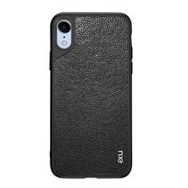 Nxe Litchee TPU Hoesje iPhone Xr - Zwart