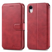 Azns Booktype Hoesje iPhone Xr - Rood