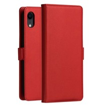 Dzgogo Booktype Hoesje iPhone Xr - Rood